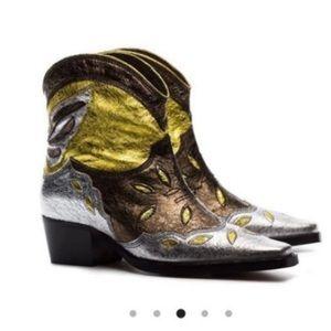 GANNI Metallic Boots